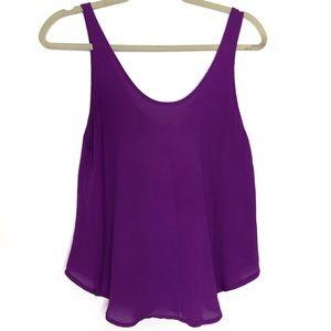 LUSH | Purple SemiSheer Sleeveless Flowy Top Small